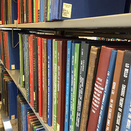 Math books on shelves