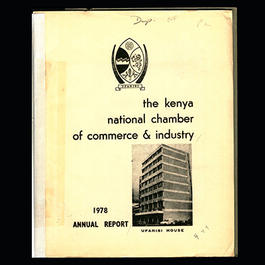 Title page of report of the Kenya National Chamber of Commerce and Industry (1978)