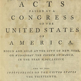 Title page of Acts Passed at a Congress