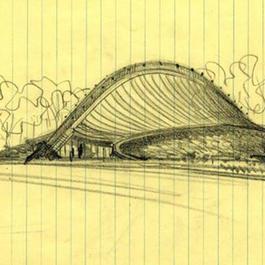 Ingalls Rink pencil sketch