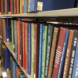 Math books on shelves