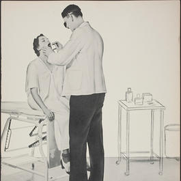 Poster of doctor examining patient