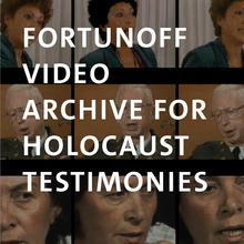 Fortunoff Video Archive, video stills of a man and two women