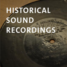 Historical Sound Recordings, photograph of vinyl Berliner recording