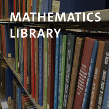 Mathematics Library, Math books on shelves
