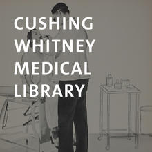 Cushing/Whitney Medical Library, poster of doctor examining patient