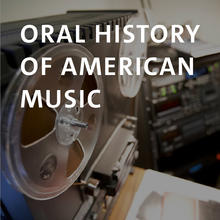 Oral History of American Music, photograph of an analog reel-to-reel tape recorder and various digital recorders