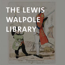 Lewis Walpole Library, etching with hand coloring