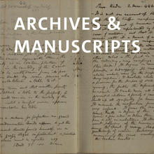 Archives and manuscripts, two handwritten notebook pages.