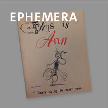 Ephemera, printed pamphlet with illustration of a mosquito