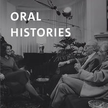 Oral histories, photo of interview in progress