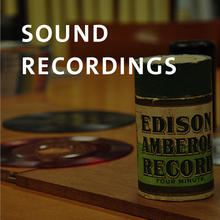 Sounds recordings, early sound recording formats